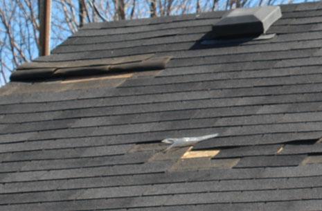 Wind damage roof repairs Windsor, Ontario